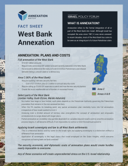 Fact Sheet: West Bank Annexation